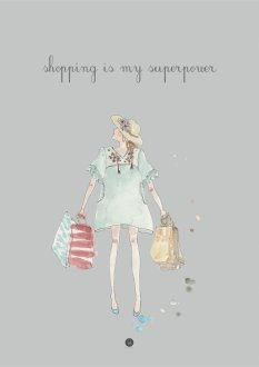 Plakat - Shopping is my superpower