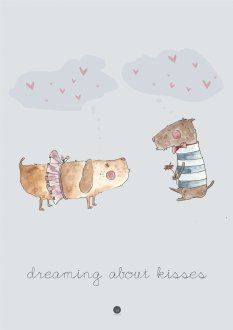 Plakat - Dreaming about kisses