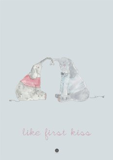 Plakat - Like first kiss