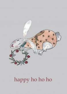 Kartka Rabbit - Happy Ho Ho Ho