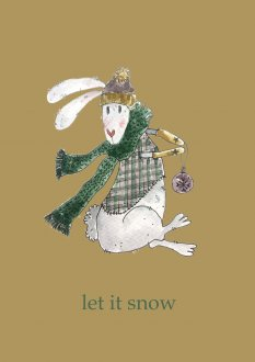 Kartka Rabbit - Let it snow